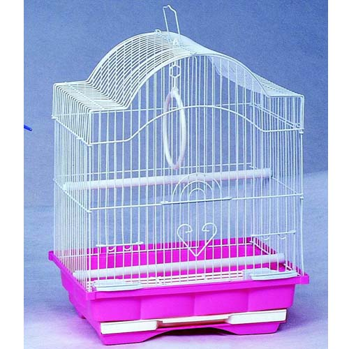 Клетка для птиц Кеша в комплекте 2 кормушки, качель, 2 жердочки